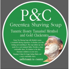 P&C Shaving Soap - Green Tea with Menthol